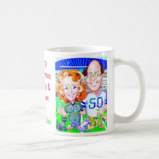 Merry Christmas Beverly &William v. 3 Classic White Coffee Mug