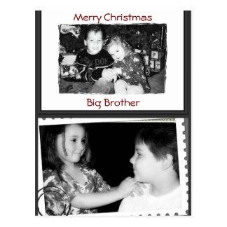 MERRY CHRISTMAS BIG BROTHER POSTCARD