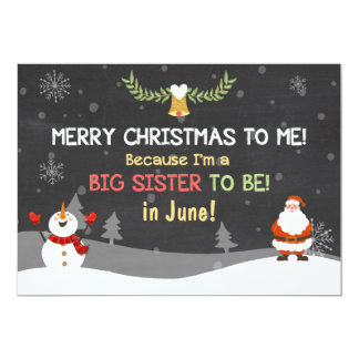 Merry Christmas Big Sister pregnancy announcement
