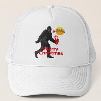 Merry Christmas Bigfoot Trucker Hat