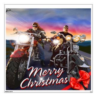 Merry Christmas Bikers 1 Belt Buckle Options Wall Sticker