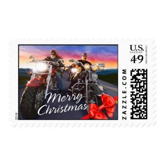 Merry Christmas Bikers 1 Postage