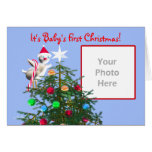 Merry Christmas Bird - Baby's First (photo frame) Cards