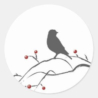 Merry Christmas Birdcage Sticker