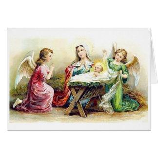 Merry Christmas Birth of Christ Greeting card