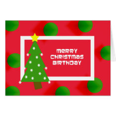 Merry Christmas Birthday Card at Zazzle
