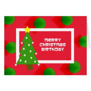 Merry Christmas Birthday Card at Zazzle