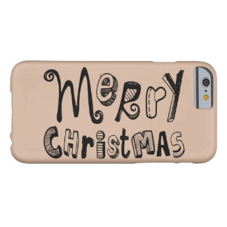 Merry Christmas - black Text Design Barely There iPhone 6 Case