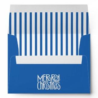 Merry Christmas blue A7 Envelope envelope