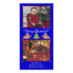 Merry Christmas Blue (Add Your Photos and Text) Photo Card Template