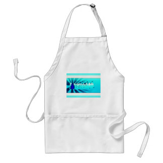 Merry Christmas - Blue Adult Apron