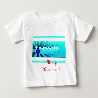 Merry Christmas - Blue Baby T-Shirt