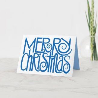 Merry Christmas Blue Card card