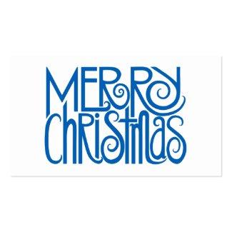 Merry Christmas Blue Gift Tag profilecard