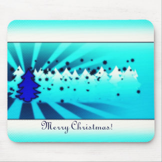 Merry Christmas - Blue Mouse Pad