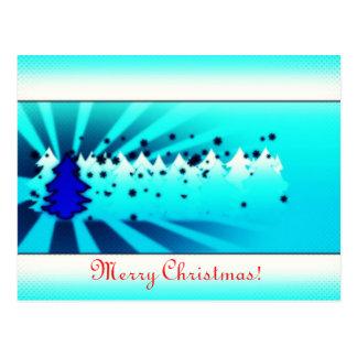 Merry Christmas - Blue Postcard