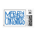 Merry Christmas blue Stamp
