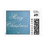 Merry Christmas Blue Stamps