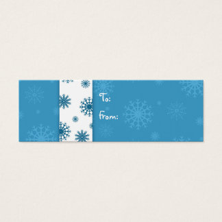 Merry Christmas Blue White Snowflakes Gift Tags