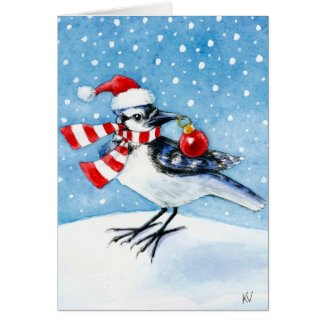 Merry Christmas Bluejay Card