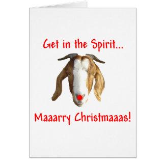 Merry Christmas Boer Goat Card
