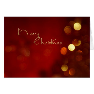 Merry Christmas bokeh card