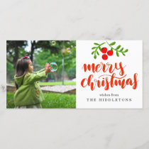 Merry Christmas Bold Red Script Holiday