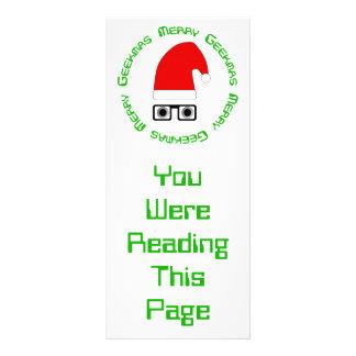 Merry Christmas Bookmark Template Rack Card