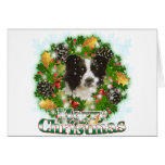 Merry Christmas Border Collie Greeting Card
