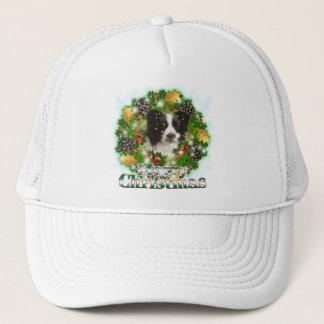 Merry Christmas Border Collie Trucker Hat