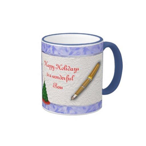 Merry Christmas Boss Christmas with pen add text Coffee Mug