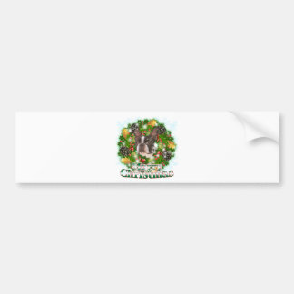 Merry Christmas Boston Terrier Bumper Sticker