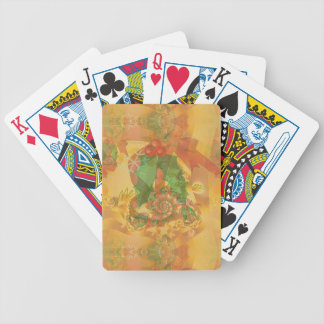 Merry Christmas Bow Bicycle Playing Cards