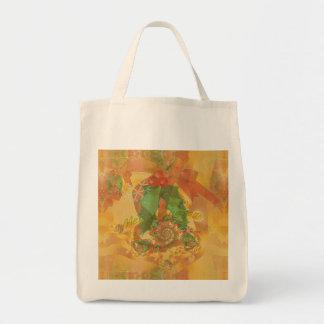 Merry Christmas Bow Canvas Bag