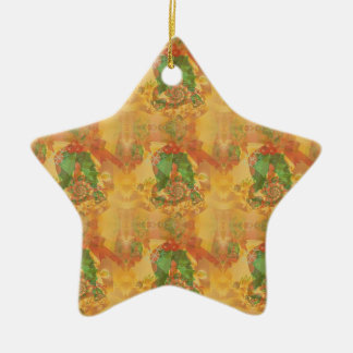 Merry Christmas Bow Ceramic Ornament