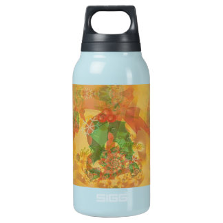 Merry Christmas Bow Insulated Water Bottle