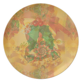 Merry Christmas Bow Party Plates