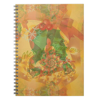 Merry Christmas Bow Spiral Note Books