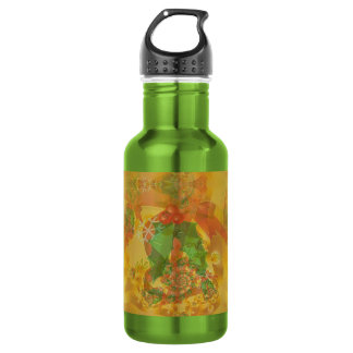 Merry Christmas Bow Stainless Steel Water Bottle