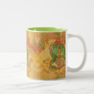 Merry Christmas Bow Two-Tone Coffee Mug