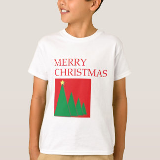 Merry Christmas box and trees T-Shirt