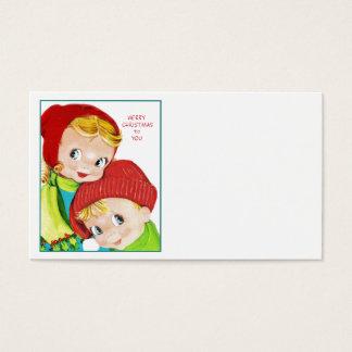 Merry Christmas Boy and Girl Business Card