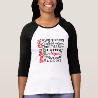 Merry Christmas Brain Cancer Ribbon Collage Tees