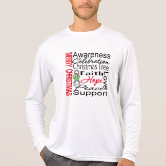 Merry Christmas Brain Cancer Ribbon Collage T-shirts