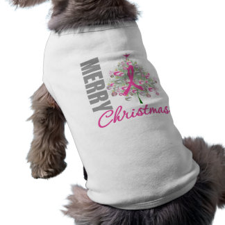 Merry Christmas Breast Cancer Pink Ribbon Wreath Shirt