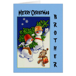 Merry Christmas Brother Greeting Card
