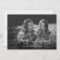 Merry Christmas Brush Script Calligraphy Holiday Card
