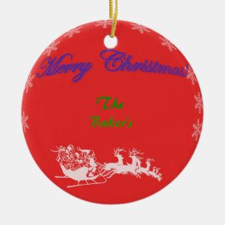 Merry Christmas Bulb Ornament