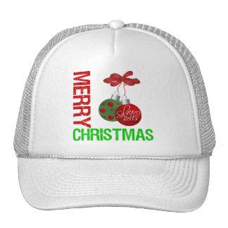 Merry Christmas Bulb Ribbon Ornanment Trucker Hat