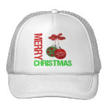 Merry Christmas Bulb Ribbon Ornanment Mesh Hats